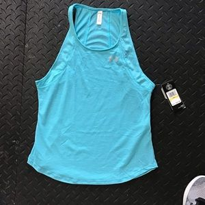 NWT Under Armour Teal Blue Heat Gear Tank Top M